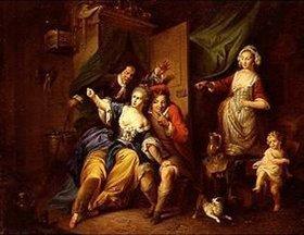 Christian von Mannlich: Überraschungsszene aus der Oper Blaise le Savetier