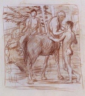 Hans von Marées: Cheiron und Achilles
