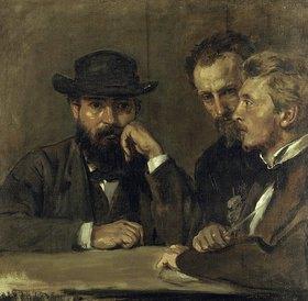 Hans von Marées: Selbstbildnis mit Hildebrand und Grant
