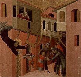 Simone Martini: Die wunderbare Errettung eines vom Balkon stürzenden Kindes