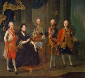 Louis Joseph Maurice: Maria Theresia mit vier Söhnen