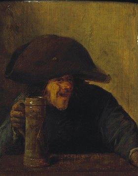 Adriaen Brouwer: Bauer mit Zweimaster und Krug