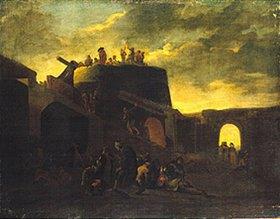 Pieter van Laer: Vor einer italienischen Stadt
