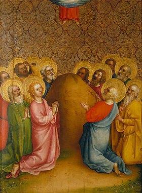 Meister des Heisterbacher Altars: Die Himmelfahrt Christi