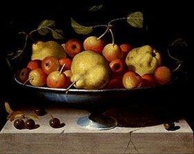 Maestro della Fruttiera Lombarda: Fruchtschale mit Äpfeln und Birnen