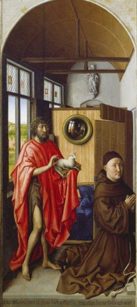 Meister von Flémalle (R.Campin): Johannes der Täufer und der Franziskaner Heinrich von Werl