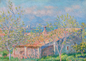 Claude Monet: Das Haus des Gärtners in Antibes