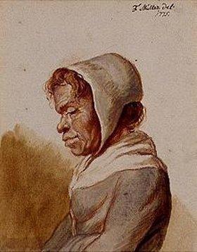 Friedrich (Maler-Müller) Müller: Kopf einer Bäuerin mit weißer Haube