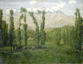 Hans Thoma: Berge bei Carrara