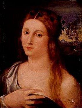 Palma Vecchio (Jacopo Negretti): Brustbild eines Mädchens