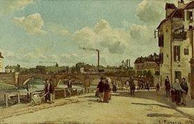 Camille Pissarro: Ansicht von Pontoise (Quai du Pothuis)