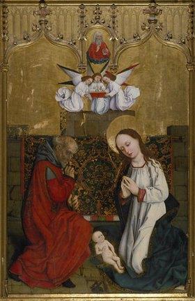 Hans Pleydenwurff: Hofer Altar. Innenseite. Geburt Christi