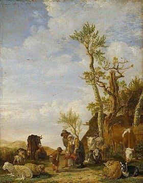 Paulus Potter: Bauernfamilie mit Vieh