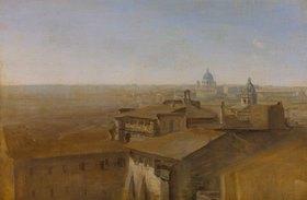Johann Georg von Dillis: Blick auf St.Peter in Rom von der Villa Malta aus