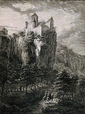 Domenico Quaglio: Schloß Prunn im Altmühltal
