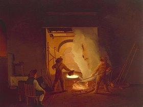 Ignatz Raffalt: In der Schmiede (II.). 1837