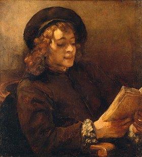 Rembrandt van Rijn: Titus van Rijn, der Sohn des Künstlers, lesend