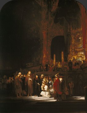 Rembrandt van Rijn: Christus und die Ehebrecherin