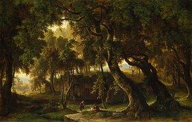 Karl Ross: Die Grotte der Nymphe Egeria bei Rom