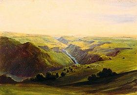 Johann Moritz Rugendas: Der Rio Grande von Santiago in der Nähe von Guadalajara