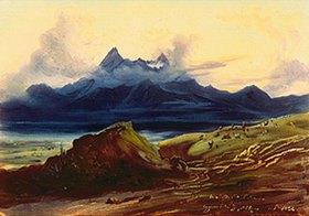 Johann Moritz Rugendas: Der See von Zapotlan und Nevado de Colima