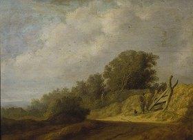 Salomon van Ruysdael: Landschaft mit Weg