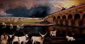 Tivadar Csontváry-Kosztka: Sturm über der großen Hortobagy (Die neunlöchrige Brücke)