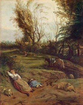 Jan Siberechts: Viehweide mit schlafender Frau