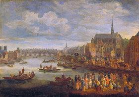 Pieter de Spierinckx: Ansicht von Paris mit St.Michael und Notre Dame