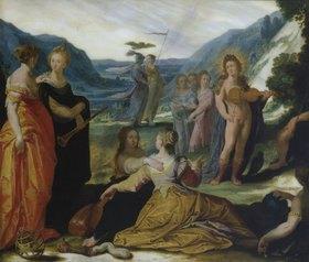 Bartholomäus Spranger: Apollo, Pallas und die Musen