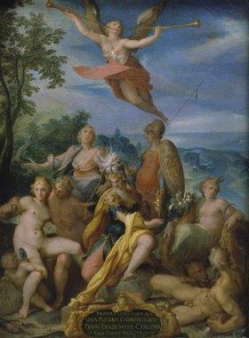 Bartholomäus Spranger: Allegorie auf Kaiser Rudolf II. zur Beendigung der Türkenkriege