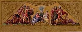 Joseph Schlotthauer: Vermählung von Menelaos und Helena