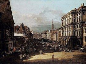 Bernardo (Canaletto) Bellotto: Der Mehlmarkt in Wien