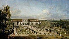 Bernardo (Canaletto) Bellotto: Das kaiserliche Lustschloß Schönbrunn, Gartenseite