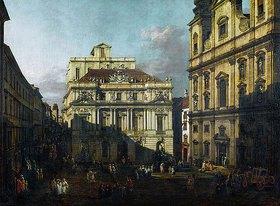 Bernardo (Canaletto) Bellotto: Der Universitätsplatz in Wien