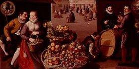 Lucas I. van Valckenborch: Obstmarkt (September/Oktober)