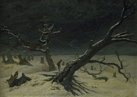Caspar David Friedrich: Winterlandschaft