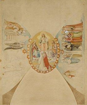 Philipp Veit: Das Paradies. Entwurf für das Deckenge- mälde des Dantezimmers des Casino Massi