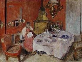 Edouard Vuillard: Das Speisezimmer (Mme.Vuillard dans la salle a manger)