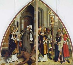 Bartholomeus Zeitblom: Der hl.Valentin heilt den Fallsüchtigen und verweigert den Götzendienst