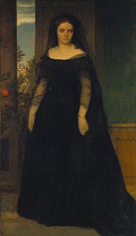 Arnold Böcklin: Bildnis der Tragödin Fanny Janauschek