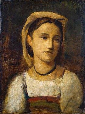 Jean-Baptiste Camille Corot: Bildnis eines italienischen Mädchens