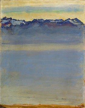 Ferdinand Hodler: Genfer See mit Savoyer Alpen
