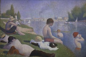 Georges Seurat: Eine Badestelle bei Asnières