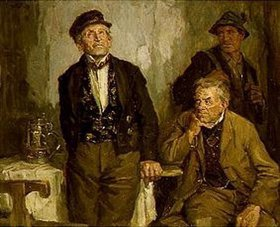 Hans Best: Drei Männer in der Schenke