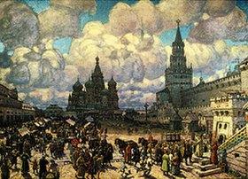 Apolinarij Wasnezow: Der rote Platz in Moskau am Ende des 17.Jahrhunderts