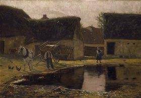 Franz Skarbina: Hof einer Farm in der Picardie