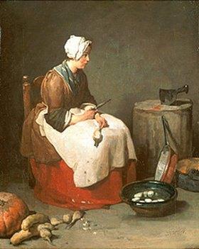 Jean-Baptiste Siméon Chardin: Die Rübenputzerin. 1738 (?)