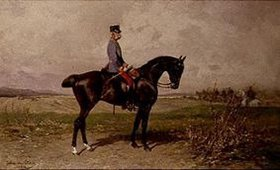 Julius von Blaas: Kaiser Franz Josef I. von Österreich zu Pferde
