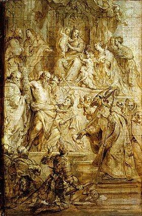 Gaspard de Crayer: Verehrung Mariae durch Heilige